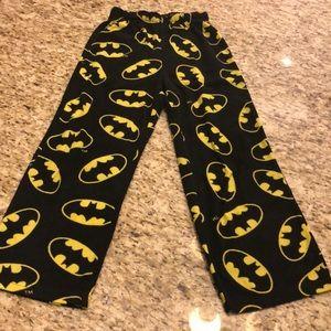 🌼 NWOT Youth Boy Sz 8 Batman PJ Bottoms